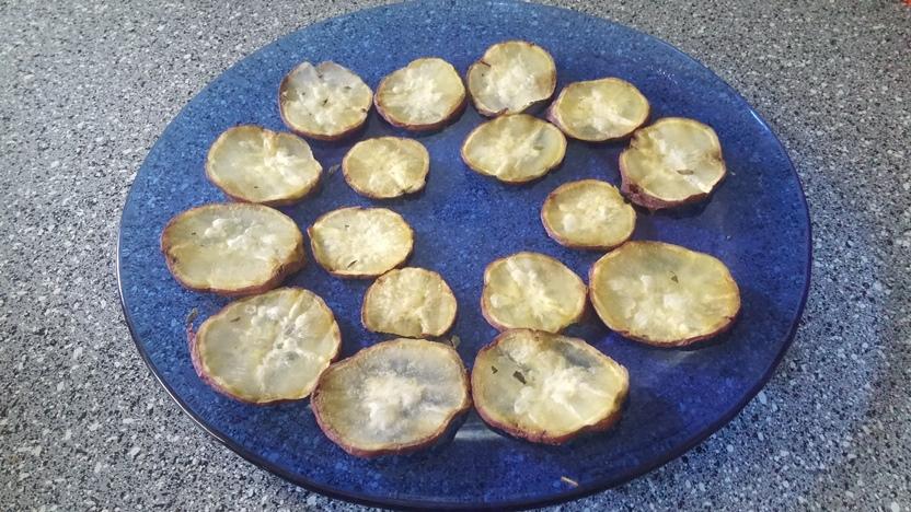 Minhas chips de batata doce